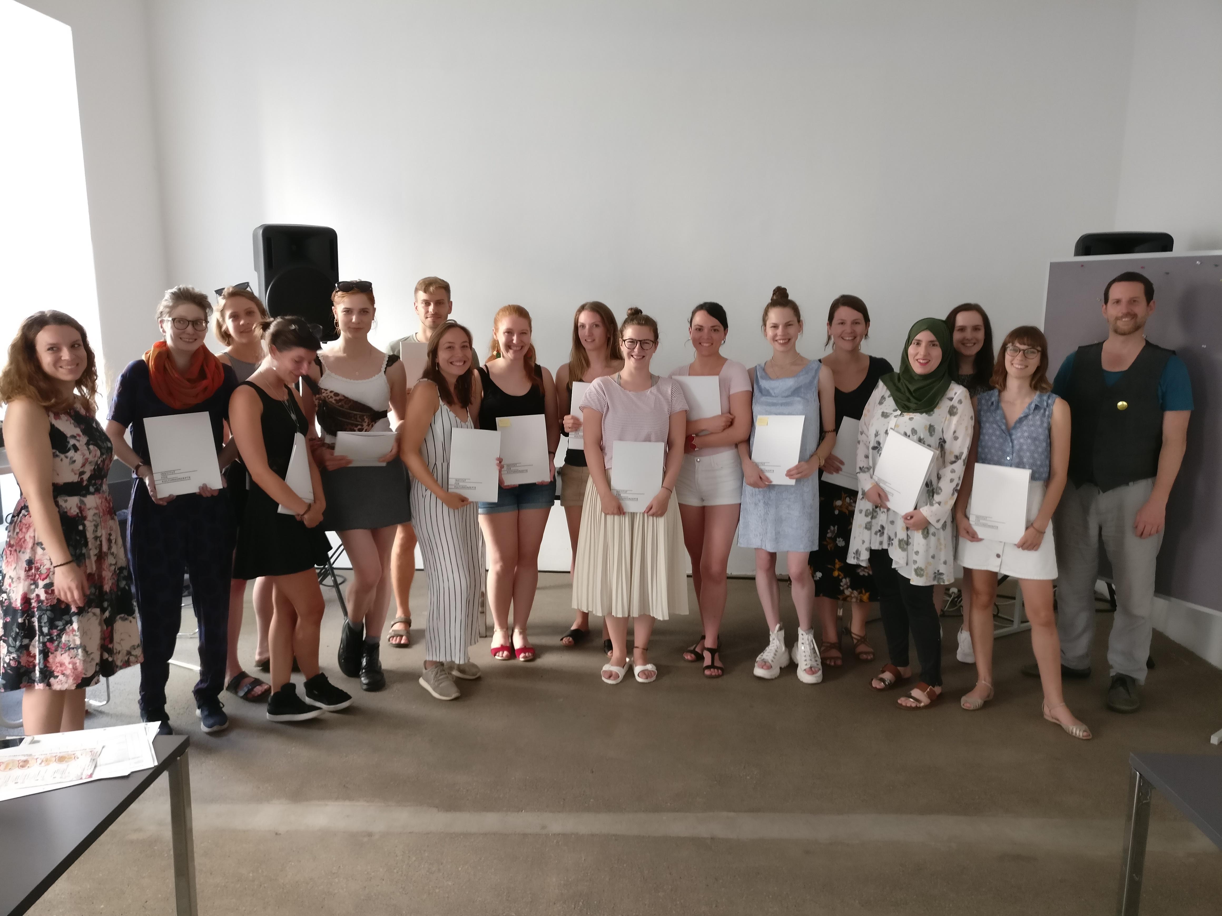 Die AbsolventInnen der Sommerakademie 2019